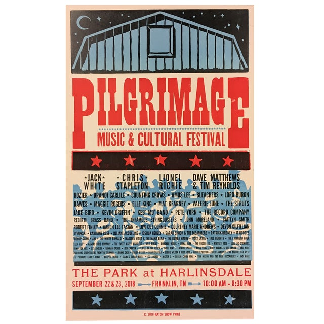 Pilgrimage Festival 2018 Hatch Print Poster