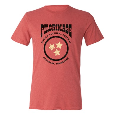 Pilgrimage Festival 2019 Red Circles Star Tee