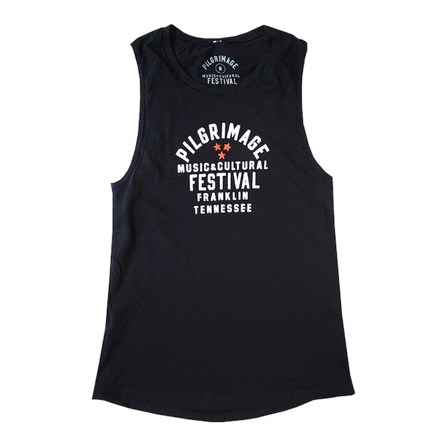 Pilgrimage Festival Ladies Tri-Star Black Tank