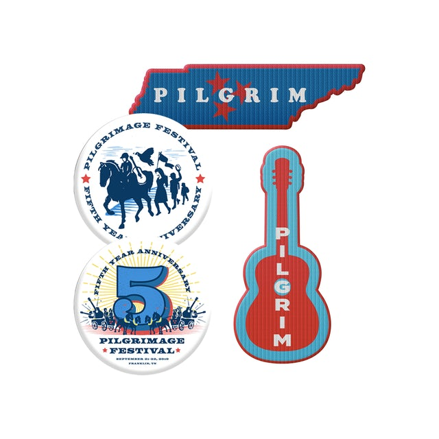 Pilgrimage Festival 2019 Pilgrimage Button and Patch Bundle