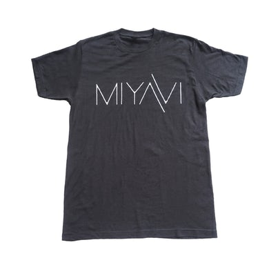 MIYAVI Black and White Logo Tee