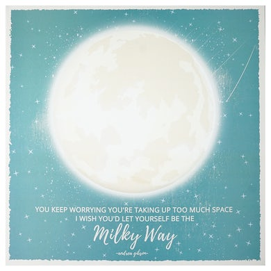 Andrea Gibson Milky Way Square Poster