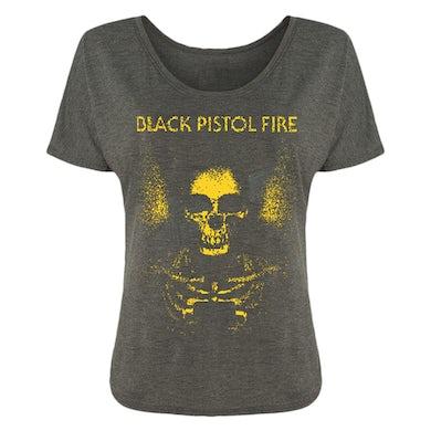 Black Pistol Fire Yellow Skeleton Ladies Tee