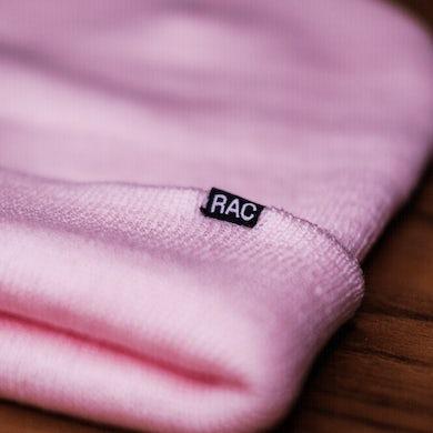 RAC Pink Logo Knit Beanie