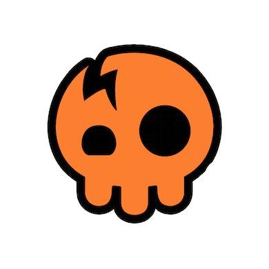 The Living Tombstone Orange Skull Sticker