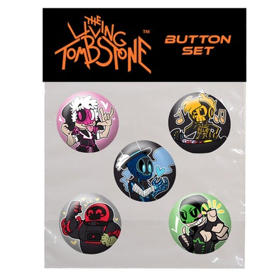 The Living Tombstone Button Set