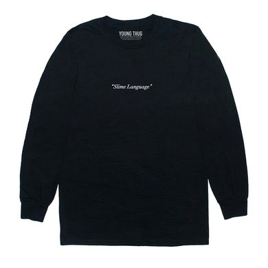 Young Thug Black Slime Language Long Sleeve T-Shirt + Slime Language Album Digital Download
