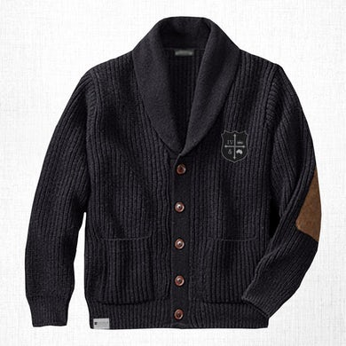 for KING & COUNTRY Navy Crest Cardigan