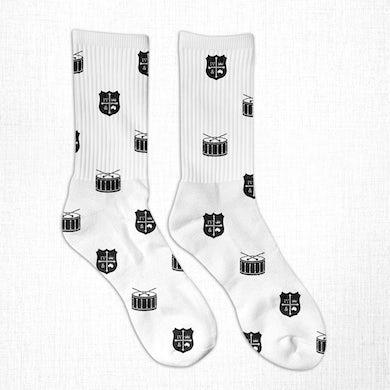 for KING & COUNTRY FK&C White Crest Socks