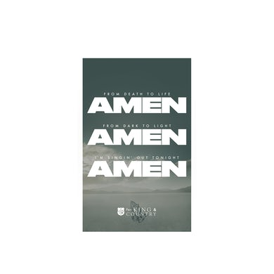 for KING & COUNTRY Amen Poster