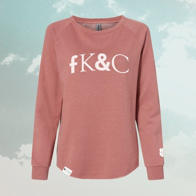 for KING & COUNTRY FK&C Ladies Dusty Rose Crewneck