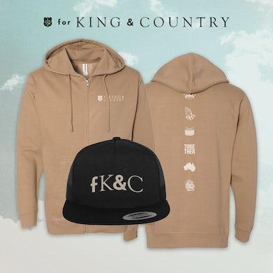 for KING & COUNTRY Zip-Up Hoodie Bundle