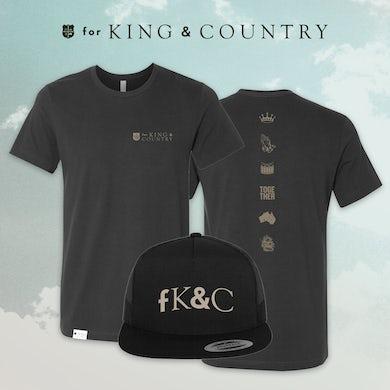 for KING & COUNTRY Dark Grey Tee Bundle