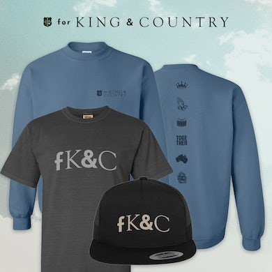 for KING & COUNTRY fK&C Blue Crewneck Deluxe Bundle