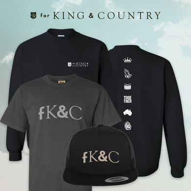 for KING & COUNTRY fK&C Black Crewneck Deluxe Bundle