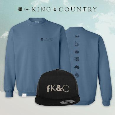 for KING & COUNTRY fK&C Blue Crewneck Bundle