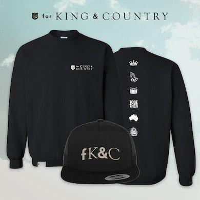 for KING & COUNTRY fK&C Black Crewneck Bundle