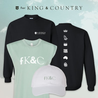 for KING & COUNTRY Ladies Crewneck Deluxe Bundle