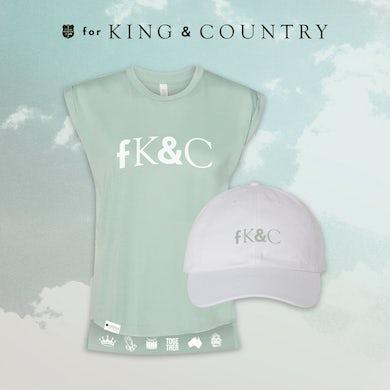 for KING & COUNTRY fK&C Teal / Teal Ladies Tank Bundle