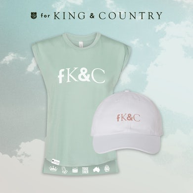 for KING & COUNTRY fK&C Teal / Mauve Ladies Tank Bundle