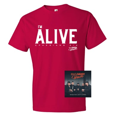 Big Daddy Weave Exclusive Red I'm Alive T-Shirt + Digital Album
