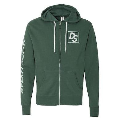 Dylan Scott Logo Zip Hoodie - Green