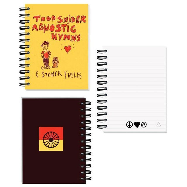 Todd Snider Agnostic Hymns spiral bound journal