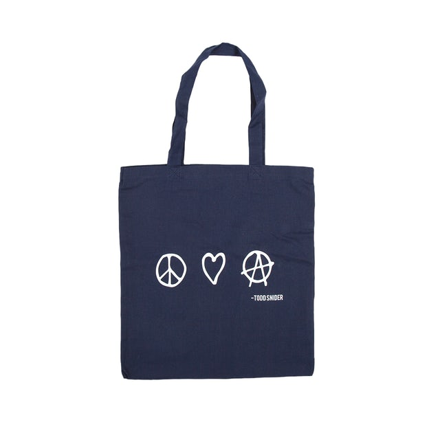 Todd Snider Peace, Love and Anarchy Tote