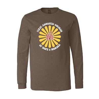 Todd Snider First Agnostic Church Long Sleeve Shirt - Brown