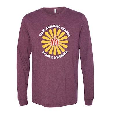 Todd Snider First Agnostic Church Long Sleeve Shirt - Maroon