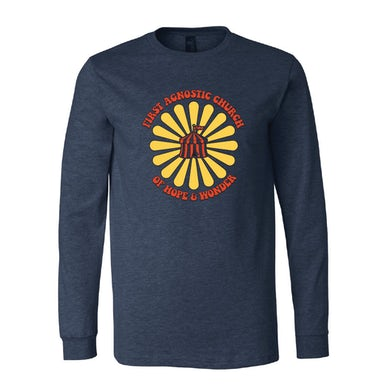 Todd Snider First Agnostic Church Long Sleeve Shirt - Heather Navy