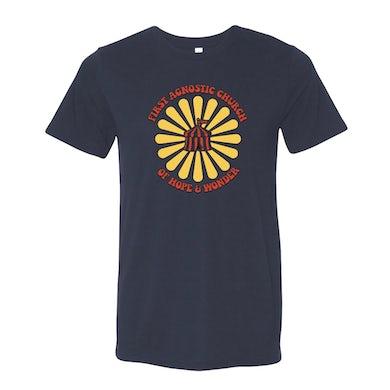 Todd Snider First Agnostic Church T-Shirt - Navy