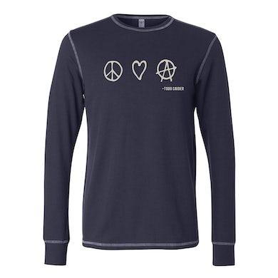 Todd Snider P, L & A Thermal Long Sleeve Shirt - Navy