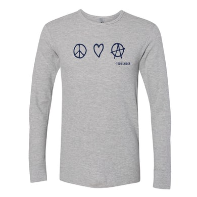 Todd Snider P, L & A Thermal Long Sleeve Shirt - Gray