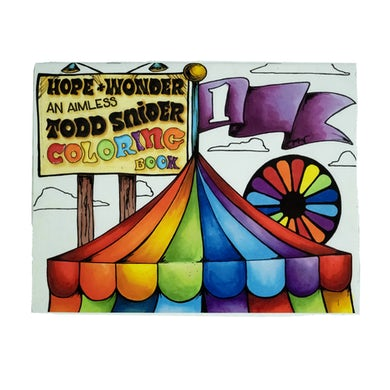 Todd Snider Hope and Wonder Coloring Book