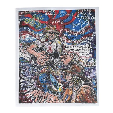 """Todd Snider - """"What It Is"""" Limited Edition Scramble Campbell print"""