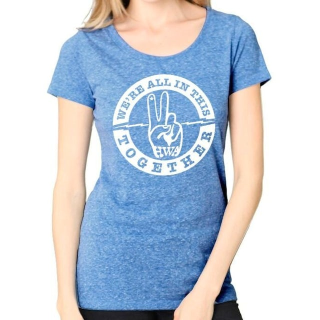 """Hard Working Americans """"We're All In This Together"""" Women's Tee"""