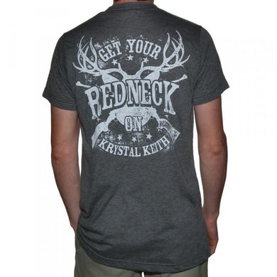 "Krystal Keith ""Get Your Redneck On"" Grey T-Shirt"