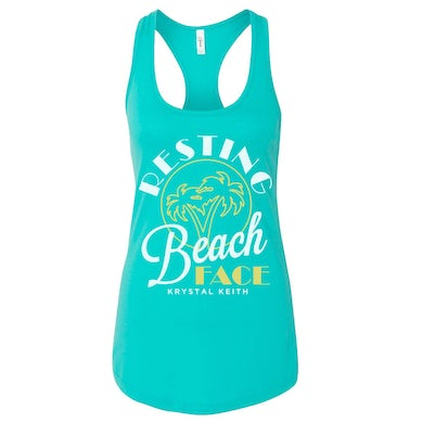 Krystal Keith Resting Beach Face Tank