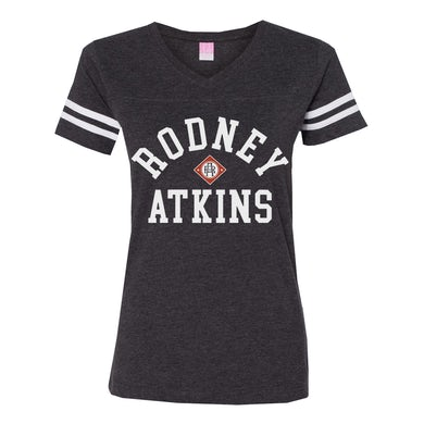 Rodney Atkins Women's Football V-Neck T-Shirt