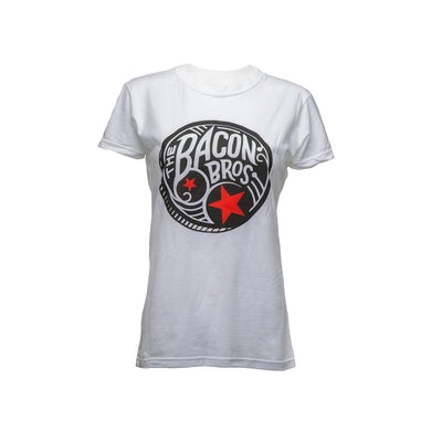 Bacon Brothers White Drum Logo Tee (Women's)