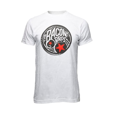 Bacon Brothers White Drum Logo Tee
