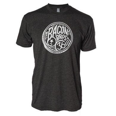 Bacon Brothers Men's Heather Black Vintage 36 Coin Logo T-Shirt