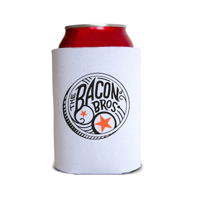 Bacon Brothers White Drum Logo Koozie