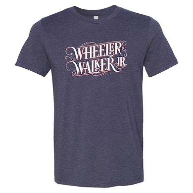 Wheeler Walker Jr Navy Logo Tee