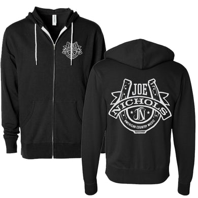 Joe Nichols JN Horseshoe Logo Zip-Up Hoodie