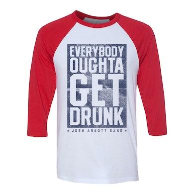 Josh Abbott Band Outta Get Drunk Raglan