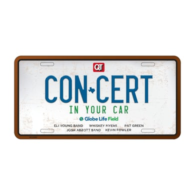 Josh Abbott Band Concert In Your Car License Plate Pre-order