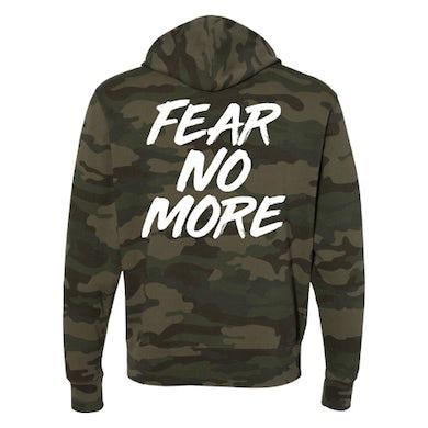 Fear No More Camo Hoodie (White Logo)