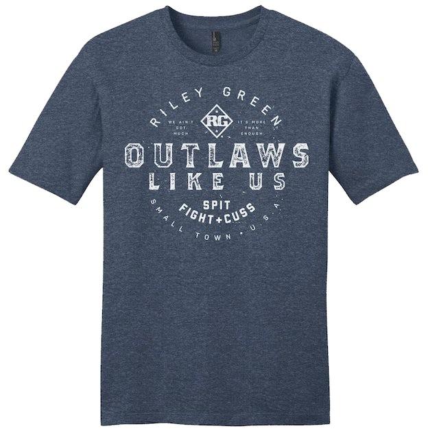 Riley Green Outlaws Like Us Navy Tee